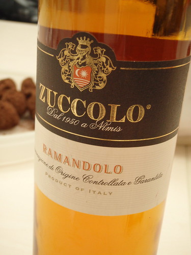 Ramandolo paired perfectly with the truffles