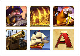 free Captain's Treasure Pro slot game symbols