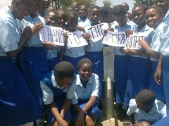 Students of St.Mary's Girls High School expressing their gratitudes to The Water Project People for the good they have done