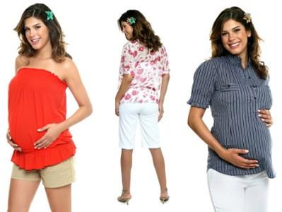 moda gestante verão 2011