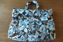 Handbag (So cute*) Tags: blue brown azul bag flor marrom maletinha