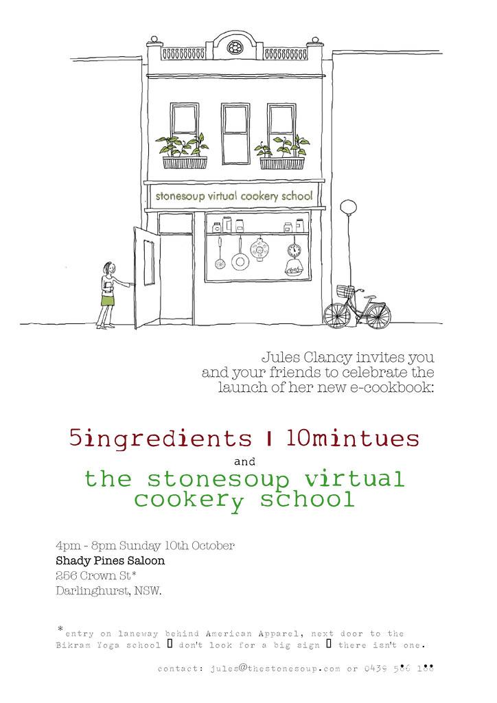 sydney Virtual Cookery School launch invite