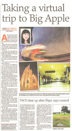 Birmingham Post 30th September 2010 Big Apple Unpeeled
