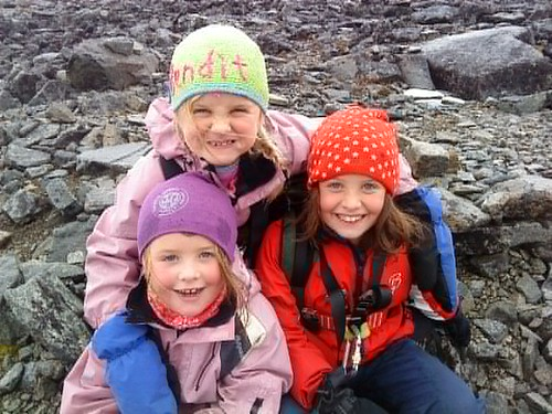 Marte, Hedda og Fredrikke var turens yngste deltagere