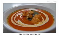 Home made tomato soup (awhyu) Tags: home garden tomato soup leaf vines cream mint vine fresh made croutouns