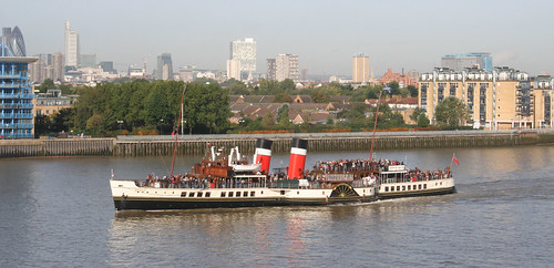 PS Waverley passing the flat