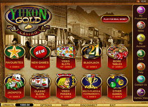 Yukon Gold Casino Lobby