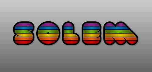 solem rainbow texteffect