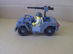 Upgraded Willys jeep. (Carpet lego) Tags: yellow grey gun lego jeep m1 wheels machine pot seats ww2 decal willys browning brickarms roaglaan