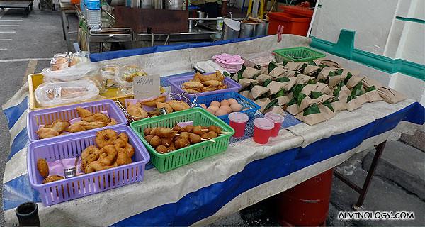 Roadside stall selling little snacks