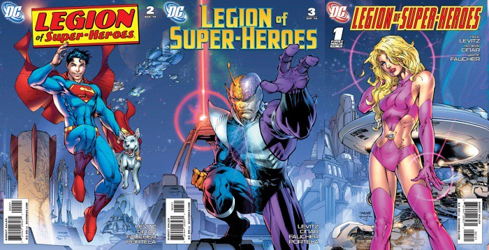 Legion Jim Lee 1-3 variants joined together, rough cut