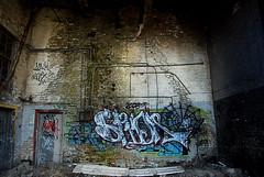 Spidr (Buroak Photography) Tags: street urban streetart art abandoned graffiti colorful downtown winnipeg pentax gritty manitoba creepy cash spraypaint prairie prairies buroak urbanites spidr aerosolpaint k200d justpentax winnipegstreetart buroakphotography