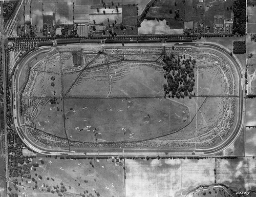 1936 Aerial view of the track