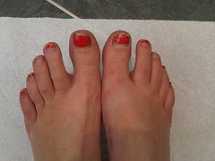 Pedicure before