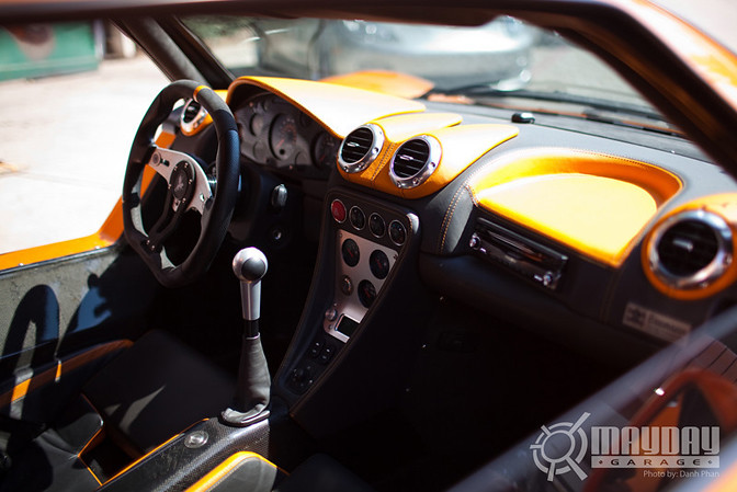Plenty of Carbon Fiber and Stitching, what you would expect from a 500K ++ car.