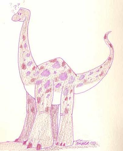 Pink Dinosaur Sketchbook 10.5.10