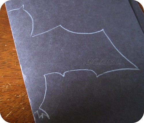 half bat traced on paper imadeitso.com