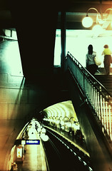 SLR - Silver Film (Julien Raaffin) Tags: paris xpro crossprocessed fuji cité métro provia 100f zenite