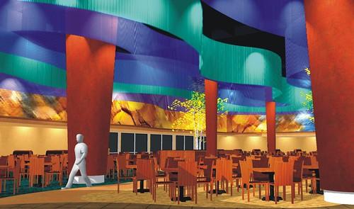 Interior d design custom casino design casino buffet interior design