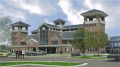 North Charleston Passenger Intermodal Facility rendering