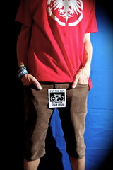 Day 276/365 October 3, 2010 (Tyler Silva Photography) Tags: red me hands sticker cords tyler waist shorts 365 silva redshirt neversummer tylersilva putthefunbetweenyourlegs