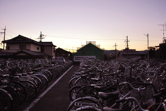 Moving to Japan, our bicycleparking