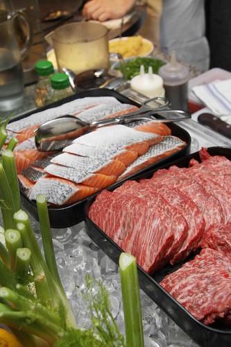 Teppanyaki: Wagyu Beef & Salmon