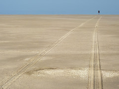 The road (Bn) Tags: road beach waddenzee warning lost vlieland wadden waddeneiland sand top
