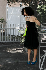 r02 (Apt To Wander) Tags: portrait black green punk dress braces boots little afro 14 grade sparkle teen cast jewish fedora eyeshadow doc 8th tutu martens reisa