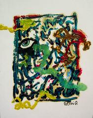 GA21512 | l'occhio che guarda attraverso i segni (GIGARTE.com) Tags: 2006 olio concettuale gianluca pittura cartone pittore petrini ga21512 petrinigianluca