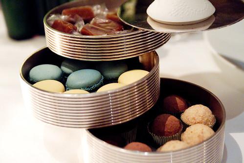 salted caramels, macarons, chocolate bon bons