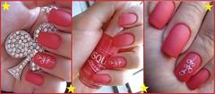 Twiggy - Risqué *-* (Our Nails) Tags: coral lindo twiggy perfeito carimbo risqué fosco esmalte konad