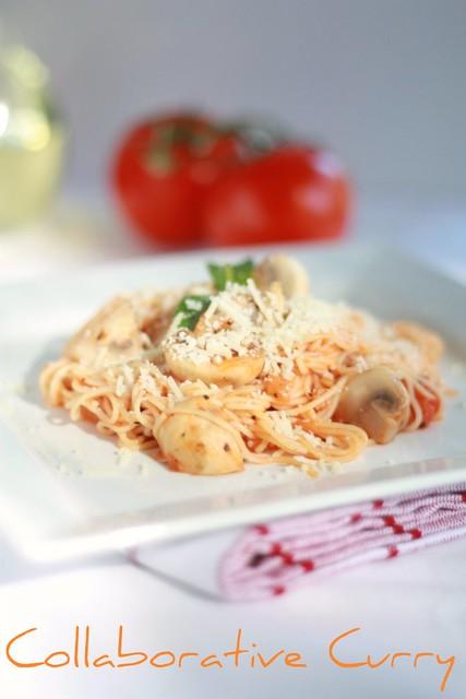 Capellini in Tomato Basil sauce