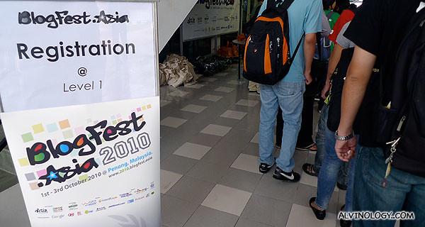 Blogfest Asia signage
