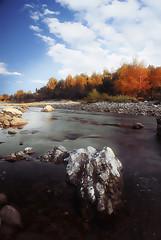 Mountain Stream (ezcrope) Tags: autumn mountain tree forest photoshop river landscape nikon stream nikkor matte d80 1685mm