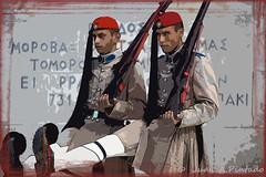 EVZONES - ATHENS (Juanan Pintado) Tags: portrait color art photoshop retrato military hellas athens greece grecia atenas militares evzones symtagma symmachiarii