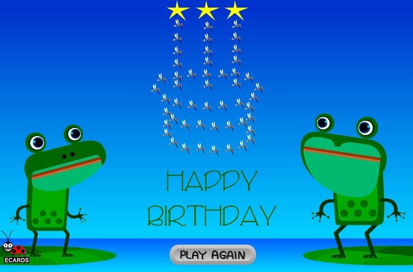 Fanny Happy Birthday Singing Frogs E Cards LadybugEcards Rinatgaz Tags
