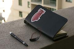 Red Zeppelin (Felyne on Flickr) Tags: notebook travelers montblanc midori starwalker