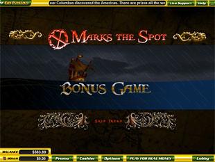 free X Marks The Spot slot bonus game