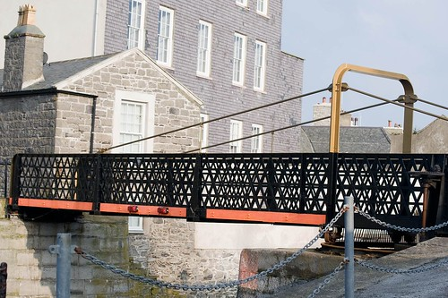 The Swingbridge at Castletown Harbour, Isle of Man.