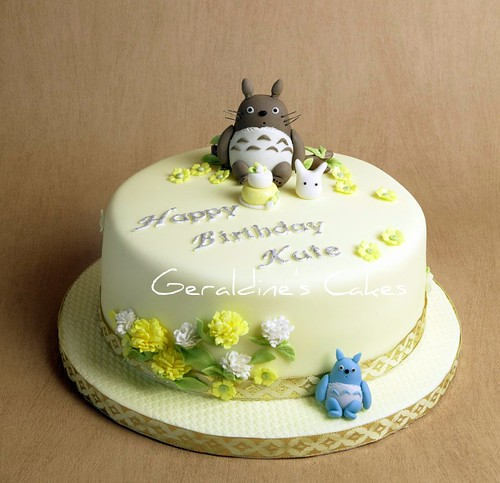 Admirable Totoro Birthday Cake A Photo On Flickriver Funny Birthday Cards Online Aeocydamsfinfo