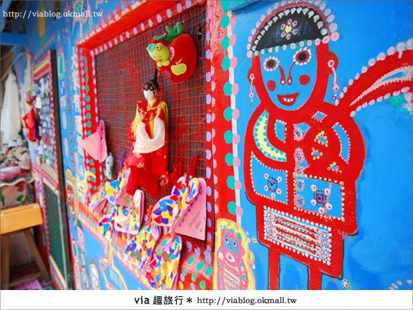 【台中】via再訪色彩繽紛的國度~台中彩虹眷村22