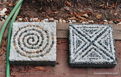 Pebble Mosaic Stepping Stones by Margaret Almon