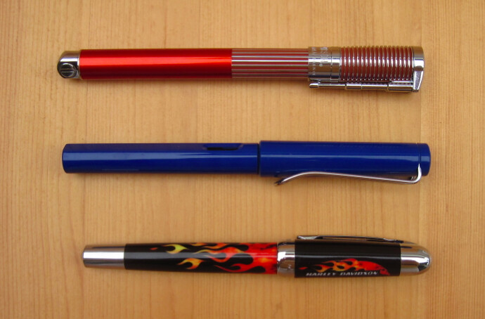 Waterman Harley-Davidson Fountain Pens size comparison