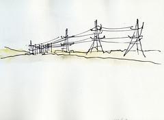 Gent (Rebecca Vanysacker) Tags: industry electric industrial sketches gent croquis schets langerbrugge