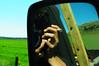 espejo (nachoizu) Tags: verde nubes espejo campo cielos nacho pucho cigarro camioneta cigarrillo cámara balcarce sierreas estanciera