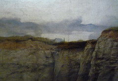 Pegwell Bay, Kent - a Recollection of October 5th 1858, detail of cliff house