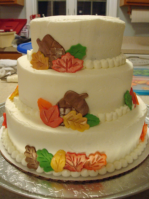 Kayleen's wedding cake Oct 2010