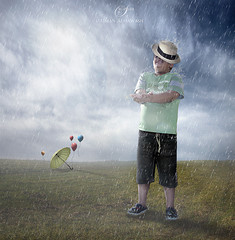The joy of rain fall /    (suliman almawash) Tags: art digital photoshop kuwait suliman       almawash
