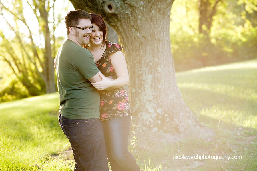 faust park engagement pictures